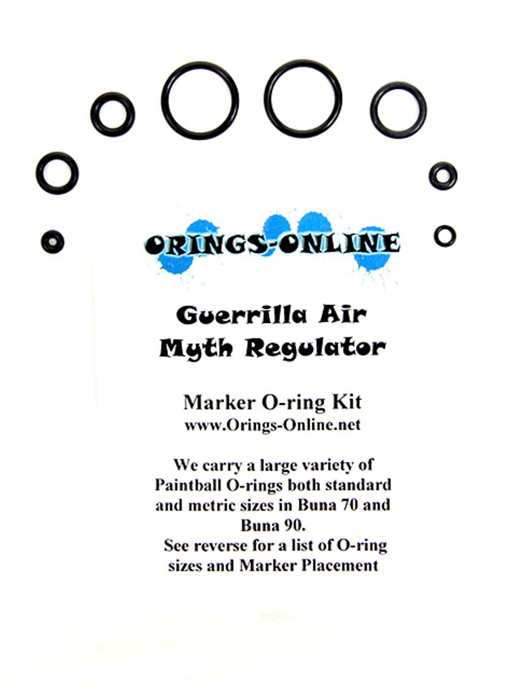 Guerrilla Air Myth Regulator O-ring Kit